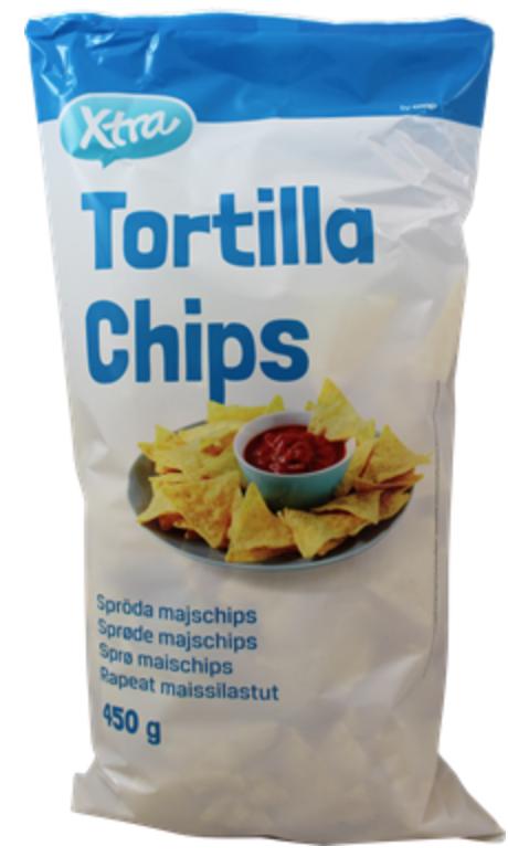 Tortilla chips eli nachot